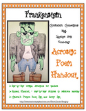 Language Arts Poetry with Halloween Art - How to Draw Frankenstein