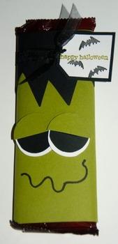 Halloween Frankenstein Candy Bar (Set of 6)