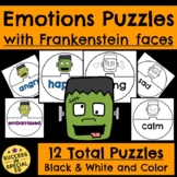 Halloween Frankenstein Emotions and Feelings Puzzles Game