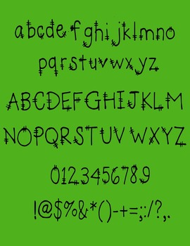 Halloween Frankenstein Font (Personal or Commercial Use)
