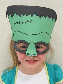 Halloween Frankenstein Sentence Strip Hat Mask