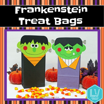 Halloween Frankenstein Treat Bags Craft