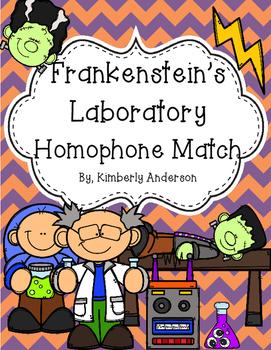 Halloween: Frankenstein's Laboratory Homophones Match