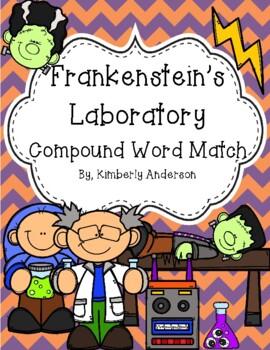 Halloween: Frankenstein's Labortory Compound Word Match