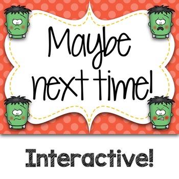 Halloween Frankie Emoji Wars Taah Half Note {Interactive Rhythm Game}