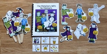 "Halloween Adapted Books--""The Monsters With No Manners"""