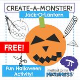 Halloween Math Activity FREE Create-A-Monster: Jack-O-Lantern