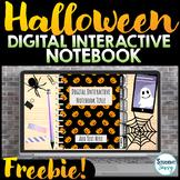 Halloween Free Interactive Notebook Template | Google Slides™