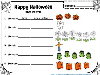 Halloween Free Simple Worksheets ESL EFL Young Learners