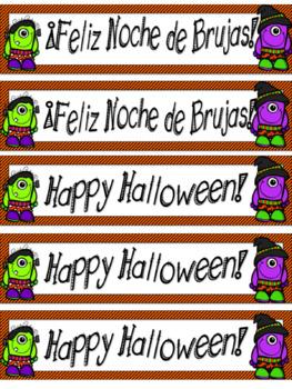 Dia de Brujas-Halloween in Spanish-Freebie