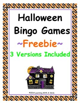 Halloween FREEBIE  Bingo-Style Word Game: Cut & Paste Version Included