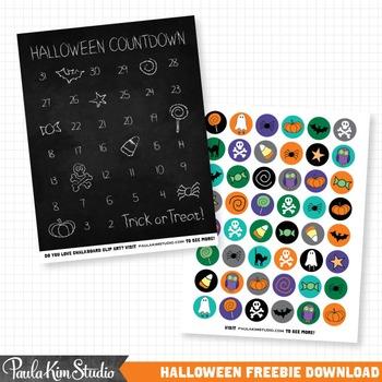 Halloween Freebie - Countdown Calendar & Collage Sheet
