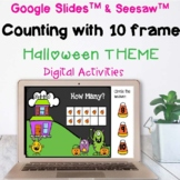 Halloween Freebie Counting with a Ten frame Google & Seesa