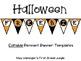 Halloween Freebie! - Editable Pennant Banners