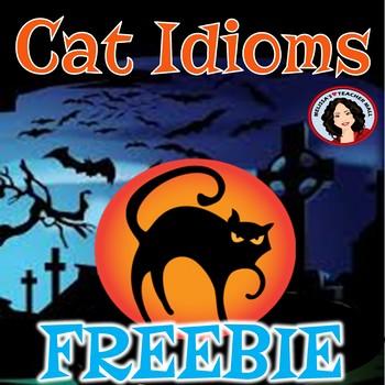 Halloween Figurative Language Cat Idioms Freebie
