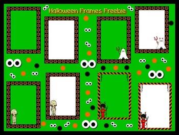 Halloween Freebie Frames