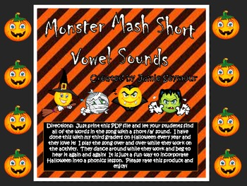Halloween Freebie! Monster Mash Short /a/ Hunt
