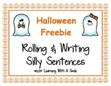 Halloween FREEBIE: Rolling & Writing Silly Sentences ~ Cute Literacy Center!