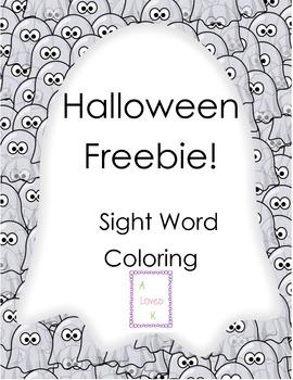 Halloween Freebie! Sight Word Coloring!
