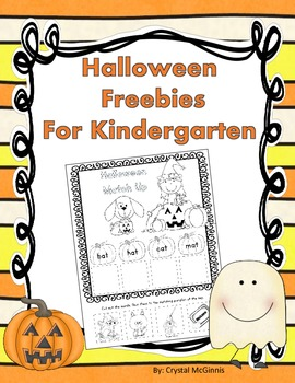 Halloween Freebies for Kindergarten (Literacy and Math)