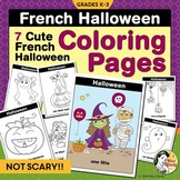 Halloween French Coloring Pages: Cute French Coloring Sheets for L'Halloween