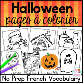 Halloween Citrouille French Colouring Pages à Colorier