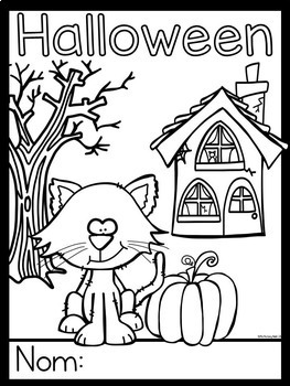 French Halloween Pages à Colorier