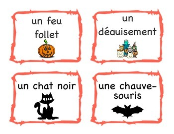 Halloween French Flash Cards