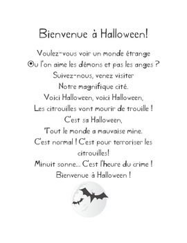 Halloween French Listening Activity