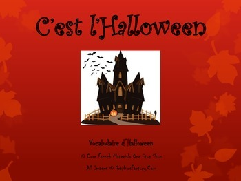 Halloween French Vocabulary Flashcards