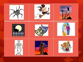 Halloween French Vocabulary Tic Tac Toe Games