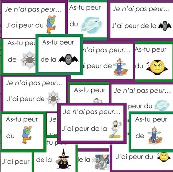 L\'halloween: French Halloween Vocabulary and Writing Activities by ...