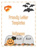 Halloween Friendly Letter Templates