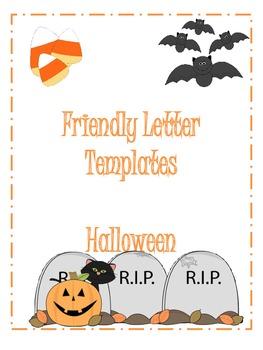 Halloween Friendly Letter Templates By Bonnie Elrod Tpt