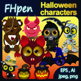 Halloween Friends EPS/AI and JPG/PNG file format