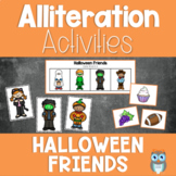 Halloween Friends Alliteration Activities and Games