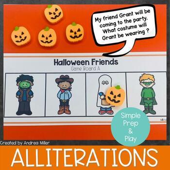 Halloween Friends Alliteration Activities and Games
