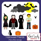 Halloween Friends Clip Art