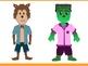 Halloween Friends Clipart {Digital Clipart}