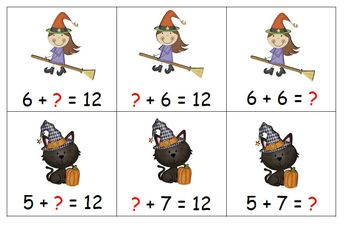 Halloween Friends Find the Missing Number - Addition