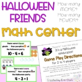 Big Pumpkin How Many More? How Many Fewer? Math Center