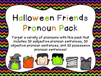 Halloween Friends Pronoun Pack