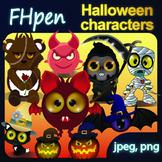 Halloween Friends READY TO PRINT  JPG/PNG