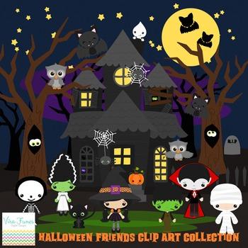 Halloween Friends Series 1 clip art