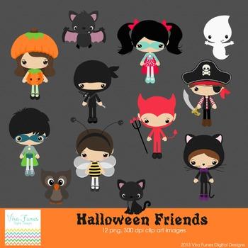 Halloween Friends Series 2 clip art
