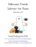 Halloween Friends Subtract the Room Minuends to 10