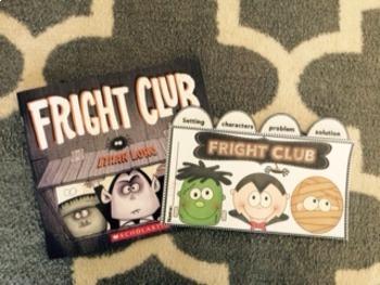 Halloween Fright Club book flip book & more