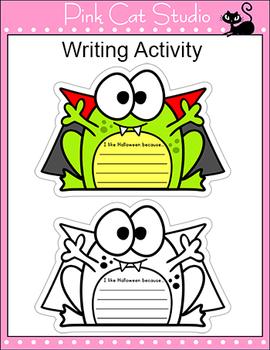 Halloween Writing Bulletin Board Display - Halloween Activities - Frog Theme