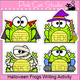 Halloween Writing Literacy Center Activity - Frog Zombie,