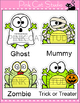 Halloween Writing Literacy Center Activity - Frog Zombie,